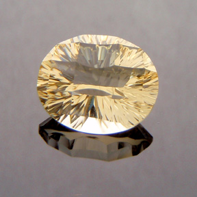 Citrine, Concave Oval Checkerboard Cut, Brazil, #c23