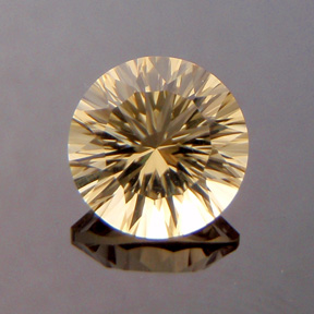 Citrine, Concave Round Brilliant, #c24 - Doug Menadue :: Bespoke Gems - Master gemcutter and lapidary artist specialising in fine custom cut precision gems from a wide range of select facet gem rough. Located in Sydney, Australia.