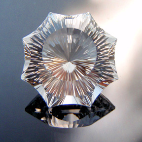 Topaz, Concave Octagon Star, O'Briens Creek, Mt Surprise, Australia, #c3 - Doug Menadue :: Bespoke Gems