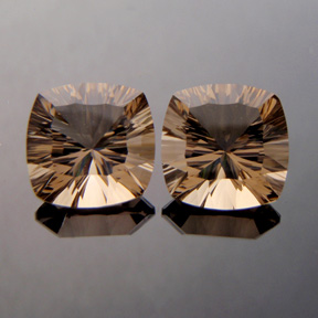 Smokey Quartz, Concave Square Cushion, #c38 - Doug Menadue :: Bespoke Gems - Master gemcutter and lapidary artist specialising in fine custom cut precision gems from a wide range of select facet gem rough. Located in Sydney, Australia.