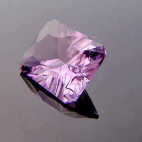 Amethyst, Concave Rectangle Cut, Brazil, #c39