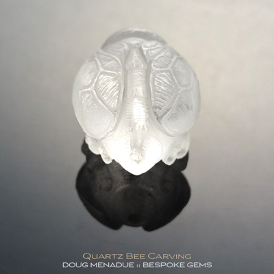 Quartz, Bee Carving, Brazil, #c13, A beautiful natural Quartz bee carving from Brazil. Doug Menadue :: Bespoke Gems :: WWW.BESPOKE-GEMS.COM - Finest Precision Gemcutting Based In Sydney Australia