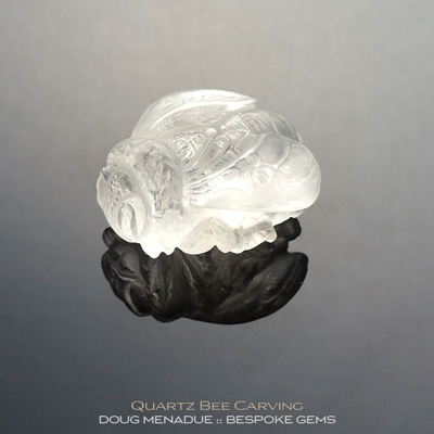 Quartz, Bee Carving, Brazil, #c14, A beautiful natural Quartz bee carving from Brazil. Doug Menadue :: Bespoke Gems :: WWW.BESPOKE-GEMS.COM - Finest Precision Gemcutting Based In Sydney Australia