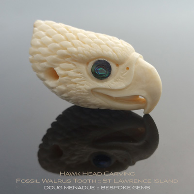 Fossil Walrus Tooth, Hawk Head, St Lawrence Island, Alaska, #c4, A beautiful natural Fossil Walrus Tooth from St Lawrence Island, Alaska. Doug Menadue :: Bespoke Gems :: WWW.BESPOKE-GEMS.COM - Finest Precision carvings Gemcutting Based In Sydney Australia