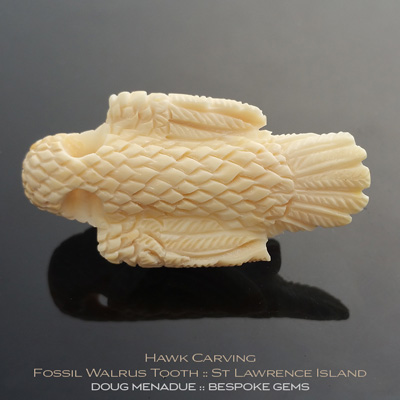Fossil Walrus Tooth, Hawk Head, St Lawrence Island, Alaska, #c6, A beautiful natural Fossil Walrus Tooth from St Lawrence Island, Alaska. Doug Menadue :: Bespoke Gems :: WWW.BESPOKE-GEMS.COM - Finest Precision carvings Gemcutting Based In Sydney Australia