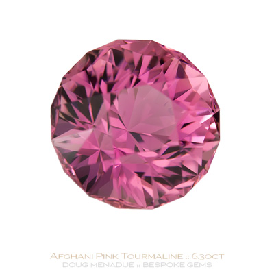 Pink Tourmaline, Antique SG1, Afghanistan, 6.30 Carats, 11.02x11.02x8.80mm, #1040, A very fine natural Pink Tourmaline which has been cut in the wonderful Antique SG1 design. Doug Menadue :: Bespoke Gems :: WWW.BESPOKE-GEMS.COM - Finest Precision Custom Gemcutting Based In Sydney Australia