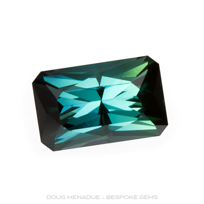 Tourmaline, Rectangle Scissor Chevron, Afghanistan, 2.73 Carats, 9.63x6.10x5.66mm, #1060, A wonderful beautiful Tourmalines cut in the Rectangle Scissor Chevron design. Doug Menadue :: Bespoke Gems :: WWW.BESPOKE-GEMS.COM - Finest Precision Custom Gemcutting Based In Sydney Australia