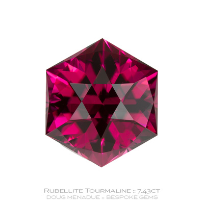 1131, Rubellite Tourmaline, Custom Hexagonal Dome, 7.43 Carats,  11.44x11.43x9.02mm, Raspberry Pink Red - A beautiful Rubellite Tourmaline from Nigeria - Doug Menadue :: Bespoke Gems :: WWW.BESPOKE-GEMS.COM - Finest Quality Precision Custom Gemcutting and Lapidary Services Based In Sydney Australia