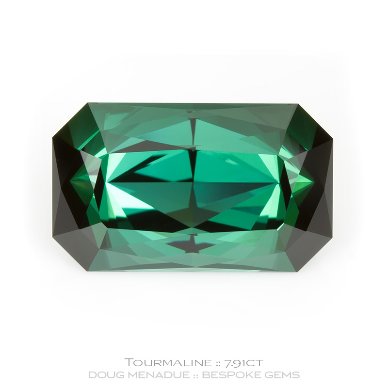 1132, Green Tourmaline, Tourmaline Special, 7.91 Carats,  14.51x8.76x7.51mm, Bluish Green - A beautiful Green Tourmaline from Afghanistan - Doug Menadue :: Bespoke Gems :: WWW.BESPOKE-GEMS.COM - Finest Quality Precision Custom Gemcutting and Lapidary Services Based In Sydney Australia