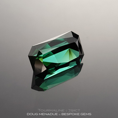 #1132, Green Tourmaline, Tourmaline Special, 7.91 Carats,  14.51x8.76x7.51mm, Bluish Green - A beautiful Green Tourmaline from Afghanistan - Doug Menadue :: Bespoke Gems :: WWW.BESPOKE-GEMS.COM - Finest Quality Precision Custom Gemcutting and Lapidary Services Based In Sydney Australia