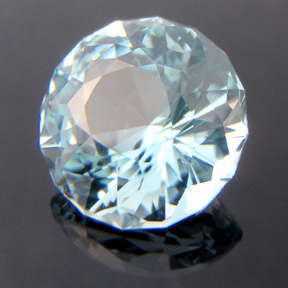 Natural Blue Topaz, Phi Flower Dome, O'Briens Creek, Mt Surprise, Australia, #115 - Doug Menadue :: Bespoke Gems - Master gemcutter and lapidary artist specialising in fine custom cut precision gems from a wide range of select facet gem rough. Located in Sydney, Australia.