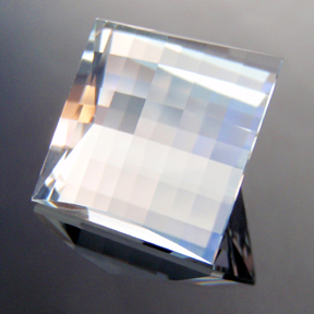 Natural Blue Topaz, Mock Check Square, O'Briens Creek, Mt Surprise, Australia, #119 - Doug Menadue :: Bespoke Gems - Master gemcutter and lapidary artist specialising in fine custom cut precision gems from a wide range of select facet gem rough. Located in Sydney, Australia.