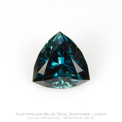 12147-8, Australian Sapphire, Trillion, 2.13 Carats, 7.94X7.92X4.91mm, Blue - A beautiful natural Australian Sapphire from the gemfields around Rubyvale, Central Queensland, Australia - Doug Menadue :: Bespoke Gems :: WWW.BESPOKE-GEMS.COM - Finest Quality Precision Custom Gemcutting and Lapidary Services Based In Sydney Australia