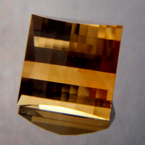 Citrine, Mock Check Square, #128 - Doug Menadue :: Bespoke Gems - Master gemcutter and lapidary artist specialising in fine custom cut precision gems from a wide range of select facet gem rough. Located in Sydney, Australia.