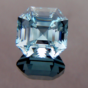 Natural Blue Topaz, Asscher Cut, Brazil, #132 - Doug Menadue :: Bespoke Gems - Master gemcutter and lapidary artist specialising in fine custom cut precision gems from a wide range of select facet gem rough. Located in Sydney, Australia.