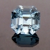 Natural Blue Topaz, Asscher Cut, Brazil, #132