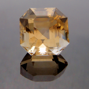 Asscher Cut Citrine, Asscher Cut, #134 - Doug Menadue :: Bespoke Gems - Master gemcutter and lapidary artist specialising in fine custom cut precision gems from a wide range of select facet gem rough. Located in Sydney, Australia.
