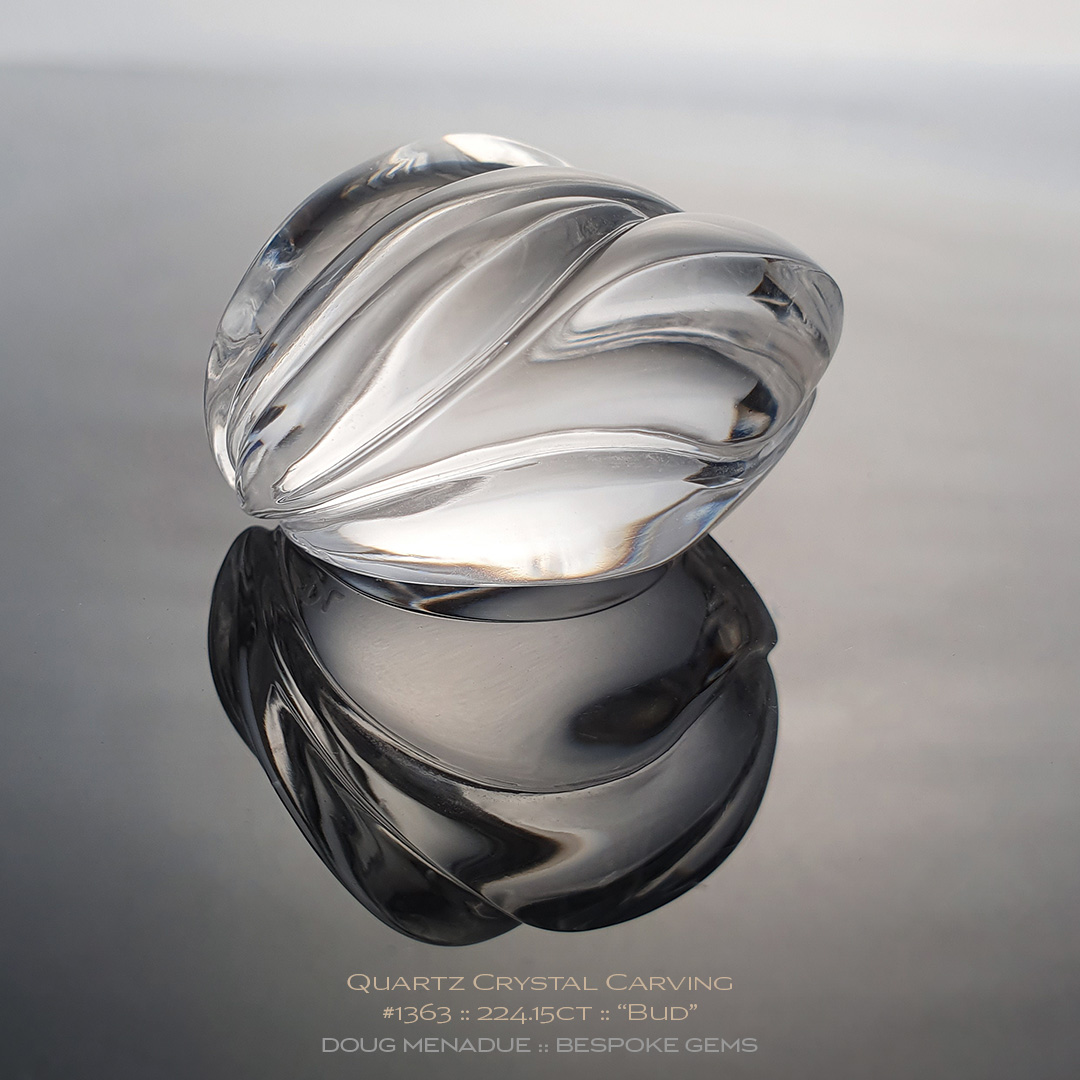 #1363, Clear Quartz Crystal, Carving, 224.15 Carats, 13.16X13.11X10.41mm - Doug Menadue :: Bespoke Gems - WWW.BESPOKE-GEMS.COM - Precision Gemcutting and Lapidary Services In Sydney Australia