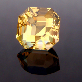 Citrine, Egyptian Asscher Cut, #139 - Doug Menadue :: Bespoke Gems - Master gemcutter and lapidary artist specialising in fine custom cut precision gems from a wide range of select facet gem rough. Located in Sydney, Australia.