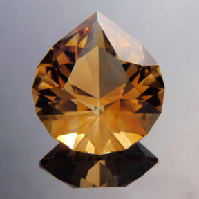 Rio Grande Citrine, Brilliant Pear, #145 - Doug Menadue :: Bespoke Gems - Master gemcutter and lapidary artist specialising in fine custom cut precision gems from a wide range of select facet gem rough. Located in Sydney, Australia.