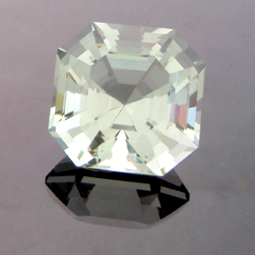 Sage Green Quartz, Asscher Cut, #147 - Doug Menadue :: Bespoke Gems - Master gemcutter and lapidary artist specialising in fine custom cut precision gems from a wide range of select facet gem rough. Located in Sydney, Australia.