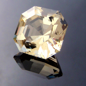Asscher Cut Yellow Beryl, Asscher Cut, #150 - Doug Menadue :: Bespoke Gems - Master gemcutter and lapidary artist specialising in fine custom cut precision gems from a wide range of select facet gem rough. Located in Sydney, Australia.