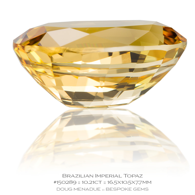 #150289, Golden Yellow Imperial Topaz, Oval, 61.48 Carats, 13.16X13.11X10.41mm - Doug Menadue :: Bespoke Gems - WWW.BESPOKE-GEMS.COM - Precision Gemcutting and Lapidary Services In Sydney Australia