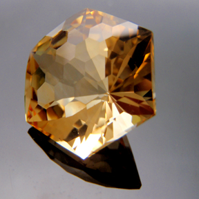 Citrine, Honeycomb Cut, #152 - Doug Menadue :: Bespoke Gems - Master gemcutter and lapidary artist specialising in fine custom cut precision gems from a wide range of select facet gem rough. Located in Sydney, Australia.