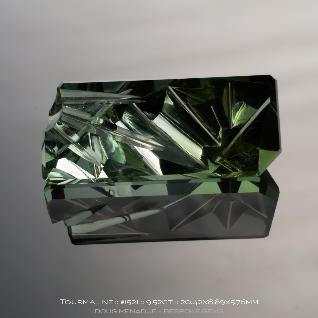 #1521, Blue Tourmaline, Carved and Cut, 9.52 Carat - Doug Menadue :: Bespoke Gems - WWW.BESPOKE-GEMS.COM - Precision Gemcutting and Lapidary Services In Sydney Australia