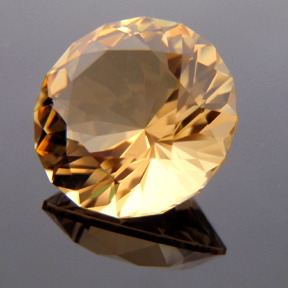 Citrine, Bicentenial Brilliant, #154 - Doug Menadue :: Bespoke Gems - Master gemcutter and lapidary artist specialising in fine custom cut precision gems from a wide range of select facet gem rough. Located in Sydney, Australia.