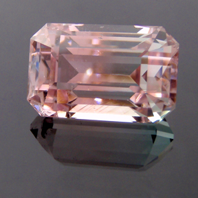 Tri-Coloured Tourmaline, Afghanistan, Classic Emerald Cut, #156 - Doug Menadue :: Bespoke Gems - Master gemcutter and lapidary artist specialising in fine custom cut precision gems from a wide range of select facet gem rough. Located in Sydney, Australia.