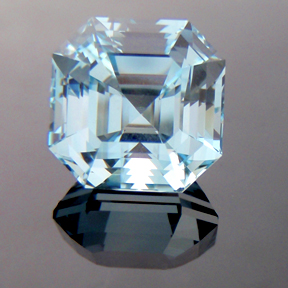 Natural Blue Topaz, Egyptian Asscher, #166 - Doug Menadue :: Bespoke Gems - Master gemcutter and lapidary artist specialising in fine custom cut precision gems from a wide range of select facet gem rough. Located in Sydney, Australia.