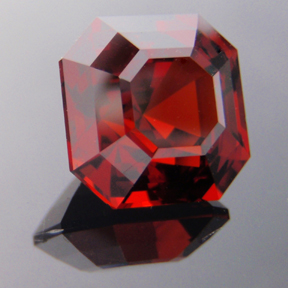 Spessartite Garnet, Asscher Cut, #168 - Doug Menadue :: Bespoke Gems - Master gemcutter and lapidary artist specialising in fine custom cut precision gems from a wide range of select facet gem rough. Located in Sydney, Australia.