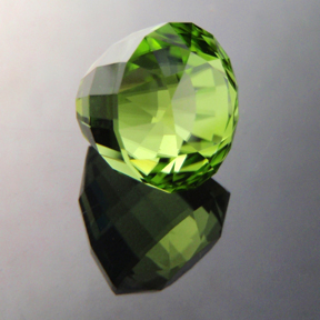Pakistani Peridot, Acorn, #169 - Doug Menadue :: Bespoke Gems - Master gemcutter and lapidary artist specialising in fine custom cut precision gems from a wide range of select facet gem rough. Located in Sydney, Australia.