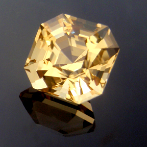 Asscher Cut Citrine, Asscher Cut, #174 - Doug Menadue :: Bespoke Gems - Master gemcutter and lapidary artist specialising in fine custom cut precision gems from a wide range of select facet gem rough. Located in Sydney, Australia.