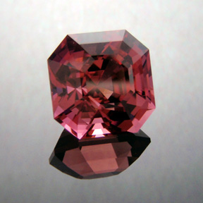 Pink Tourmaline, Nigeria, Asscher, #179 - Doug Menadue :: Bespoke Gems - Master gemcutter and lapidary artist specialising in fine custom cut precision gems from a wide range of select facet gem rough. Located in Sydney, Australia.