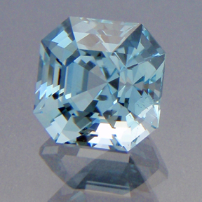 Natural Blue Topaz, Asscher, Brazil, #186 - Doug Menadue :: Bespoke Gems - Master gemcutter and lapidary artist specialising in fine custom cut precision gems from a wide range of select facet gem rough. Located in Sydney, Australia.