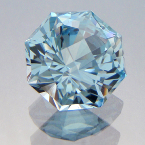 Natural Blue Topaz, Octadome #12, Brazil, #189 - Doug Menadue :: Bespoke Gems - Master gemcutter and lapidary artist specialising in fine custom cut precision gems from a wide range of select facet gem rough. Located in Sydney, Australia.