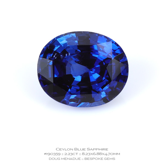 #190359, Blue Sapphire, Oval, 2.23 Carats, 13.16X13.11X10.41mm - A beautiful natural Ceylon ruby - Doug Menadue :: Bespoke Gems - WWW.BESPOKE-GEMS.COM - Precision Gemcutting and Lapidary Services In Sydney Australia