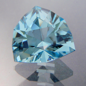 Natural Blue Topaz, Huntress, Brazil, #195 - Doug Menadue :: Bespoke Gems - Master gemcutter and lapidary artist specialising in fine custom cut precision gems from a wide range of select facet gem rough. Located in Sydney, Australia.