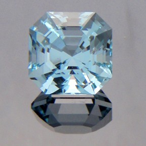 Natural Blue Topaz, Asscher, Brazil, #201 - Doug Menadue :: Bespoke Gems - Master gemcutter and lapidary artist specialising in fine custom cut precision gems from a wide range of select facet gem rough. Located in Sydney, Australia.