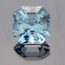 Natural Blue Topaz, Asscher, Brazil, #201