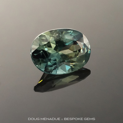Yellow Green Sapphire, Oval, Rubyvale, Central Queensland, Australia, 3.06 Carats, 10.2X7.5X5.12mm, #203438c, A magnificent natural Yellow Green Sapphire from the Australian sapphire gemfields. Doug Menadue :: Bespoke Gems