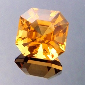 Asscher Cut Golden Citrine, Asscher Cut, #211 - Doug Menadue :: Bespoke Gems - Master gemcutter and lapidary artist specialising in fine custom cut precision gems from a wide range of select facet gem rough. Located in Sydney, Australia.