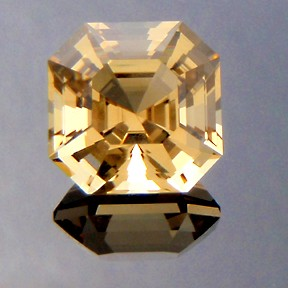 Asscher Cut Citrine, Asscher Cut, #217 - Doug Menadue :: Bespoke Gems - Master gemcutter and lapidary artist specialising in fine custom cut precision gems from a wide range of select facet gem rough. Located in Sydney, Australia.