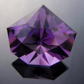 Amethyst Uruguay, Origami Star, #218 - Doug Menadue :: Bespoke Gems - Master gemcutter and lapidary artist specialising in fine custom cut precision gems from a wide range of select facet gem rough. Located in Sydney, Australia.