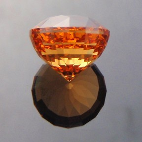 Fanta Orange Spessartite Garnet, Acorn, #220 - Doug Menadue :: Bespoke Gems - Master gemcutter and lapidary artist specialising in fine custom cut precision gems from a wide range of select facet gem rough. Located in Sydney, Australia.
