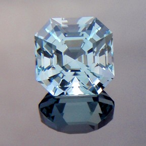 Natural Blue Topaz, Asscher Cut, O'Briens Creek, North Queensland, Australia, #222 - Doug Menadue :: Bespoke Gems - Master gemcutter and lapidary artist specialising in fine custom cut precision gems from a wide range of select facet gem rough. Located in Sydney, Australia.
