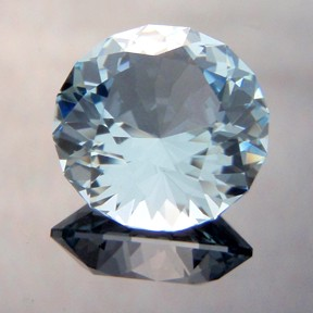 Natural Blue Topaz, Bicentenial Brilliant, Brazil, #227 - Doug Menadue :: Bespoke Gems - Master gemcutter and lapidary artist specialising in fine custom cut precision gems from a wide range of select facet gem rough. Located in Sydney, Australia.