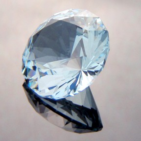 Natural Blue Topaz, Bicentenial Brilliant, Brazil, #227